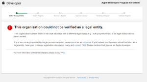 2013-01-24 Org not legal entity