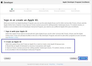 iOS Developer Program Create an Apple ID