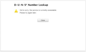 iOS Developer Program D-U-N-S Number Lookup Unavailable