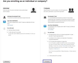 iOS Developer Program Enroll as Company