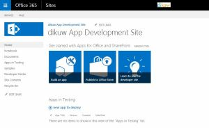 SharePoint App Dev Site