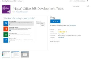 Napa Office 365 Development Tools