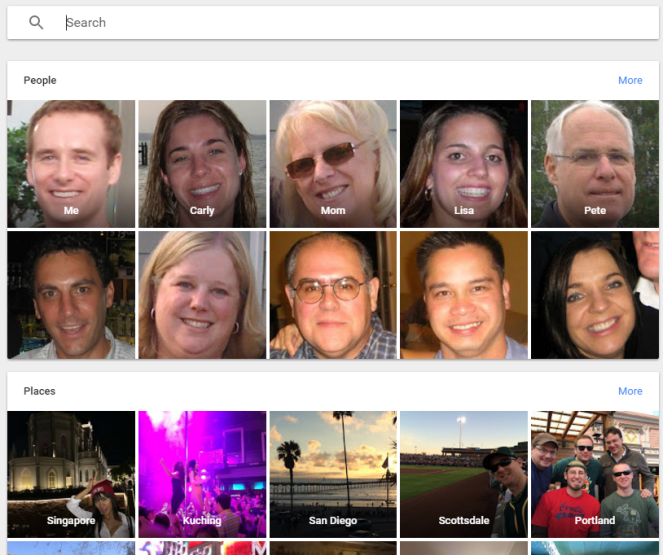 Google Photos Search Feature