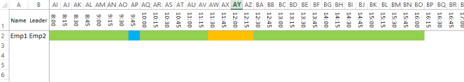 Schedule Visualization Example Excel