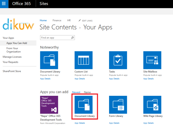SharePoint Document Library 2